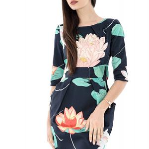 rochie imprimata floral multicolora roh dr3310 6809 1