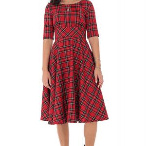 rochie in stilul anilor 50 rosu roh dr4206 9514 1