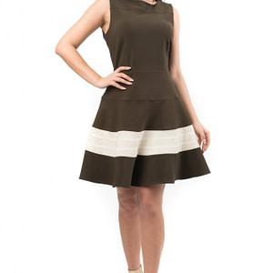 rochie maro cu crem cld348 5110 1