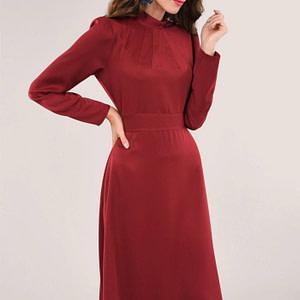 rochie maro cu maneci lungi roh dr3972 8848 1