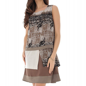 rochie maro multicolora cu design deosebit roh dr4118 9163 1