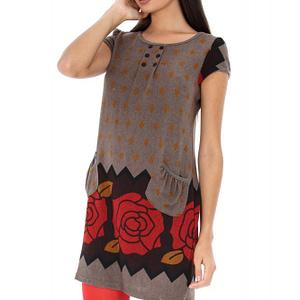 rochie maronie cu buzunare dr2801 5162 1