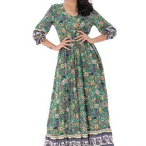 rochie maxi cu imprimeu paisley verde roh dr4139 9277 1