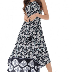 rochie maxi de vara multicolora roh dr4092 9152 1