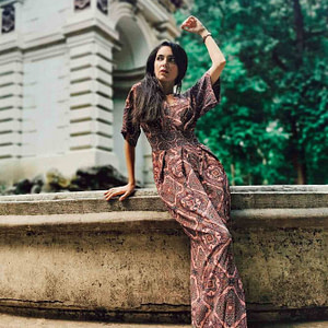 rochie maxi multicolora cu maneci scurte dr3855 8512 1