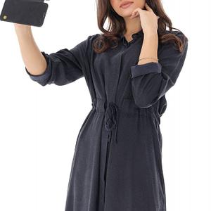 rochie midi bleumarin cu animal print roh dr3727 8037 1
