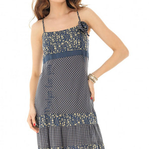 rochie midi bleumarin cu bretele roh dr3771 8230 1