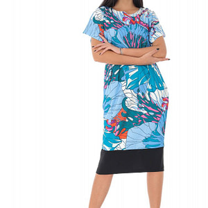 rochie midi imprimata floral roh dr4094 9154 1