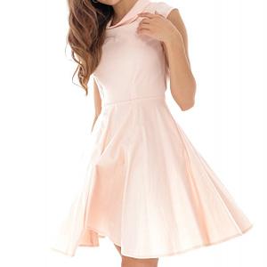 rochie midi roz pal fara maneci roh cld1138 8337 1