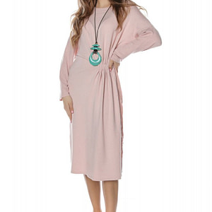 rochie midi roz pal simpla roh dr3722 8056 1