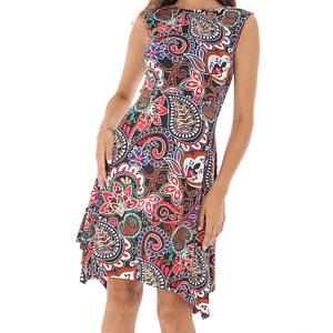 rochie multicolora cu imprimeu asiatic roh dr3952 8731 1