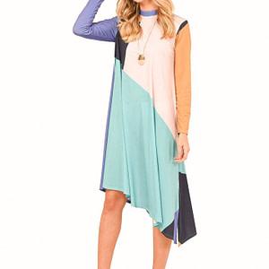 rochie multicolora roh asimetrica dr3706 7991 1