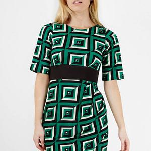 rochie multicolora roh cu imprimeu geometric cld1020 7686 1