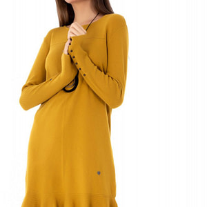rochie mustar roh tricotata dr3655 7823 1