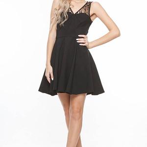 rochie neagra cu dantela d1097 1236 1