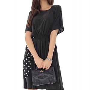 rochie neagra cu panglica cu buline roh dr4112 9207 1