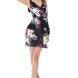 rochie neagra imprimata floral cld410 5314 1