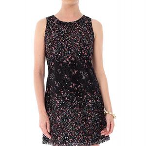 rochie neagra roh cu imprimeu colorat dr3390 7135 1