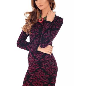 rochie neagra roh cu imprimeu grena dr3685 7966 1