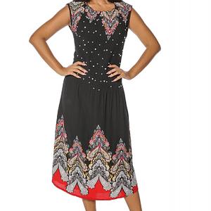 rochie neagra roh cu perle dr3538 7487 1