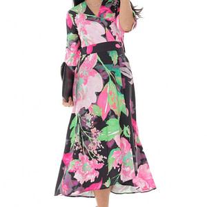 rochie petrecuta cu imprimeu floral roh dr4201 9492 1