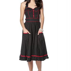 rochie polka draguta stil anii 50 roh dr4129 9237 1