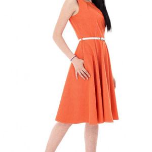 rochie portocalie in stil clos dr2906 5648 1