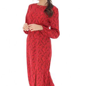rochie rosie cu imprimeu floral roh dr4055 9093 1