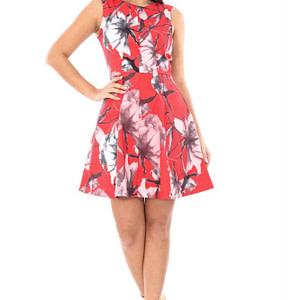 rochie rosie imprimata floral cld314 4884 1