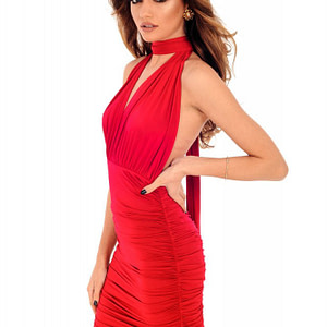 rochie rosie roh maxi de ocazie dr3688 7970 1