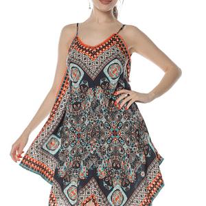 rochie scurta multicolora in colturi dr3810 8305 1