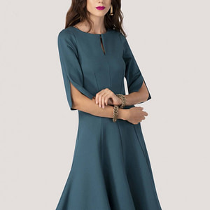 rochie teal roh midi in clini dr3677 7940 1