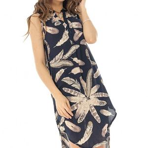 rochie tip camasa fara maneci roh dr3837 8445 1