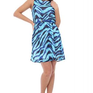 rochie turquaz accesorizata cu curea cld379 5253 1
