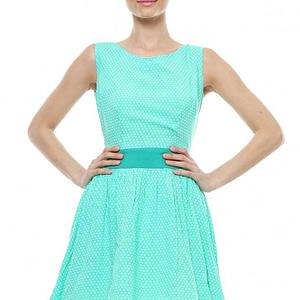 rochie verde cu buline d90249 v 1546 1