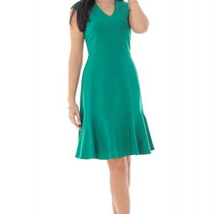 rochie verde cu decolteu in v roh dr4199 9489 1