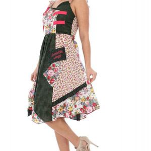 rochie verde cu roz de vara dr2800 5166 1