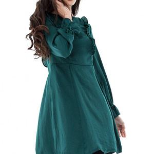 rochie verde roh cu volane dr3239 6583 1