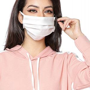 set 10 masti faciale albe din material netesut roh 9252 1