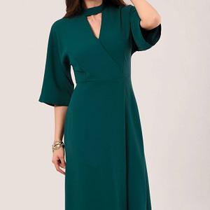 teal kimono sleeve wrap midi dress roh dr4081 9132 1