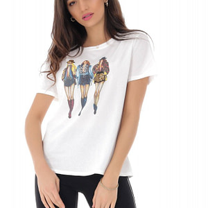 tricou alb cu imprimeu 3 fete roh br2266 9182 1