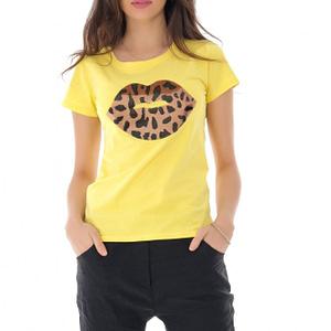 tricou galben cu buze din paiete roh br2273 9189 1