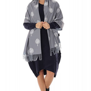 wool blend casmir shawl grey roh a0439 9647 1