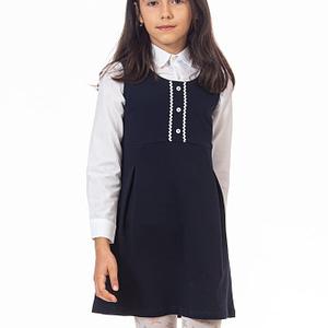 Sarafan bumbac pentru scoala
