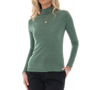 a green fine knit high neck wool blend jumper aimelia br2402 9726 1 e1617437407135