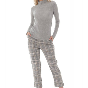a grey fine knit high neck wool blend jumper aimelia br2403 9727 1 e1617437434296