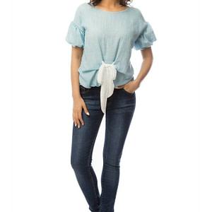 bluza albastra cu funda alba br1369 5719 1 scaled