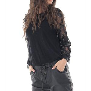 bluza de dama roh neagra eleganta br2386 9704 1 e1617399673773