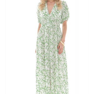 ditsy floral print maxi in green and cream aimelia dr4261 9737 1 e1617437663764