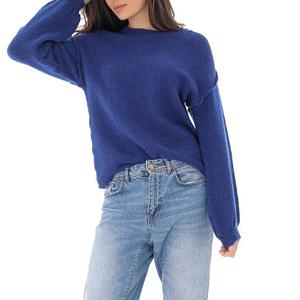 pulover albastru cu guler rotund roh br2262 9174 1 e1617399485900
